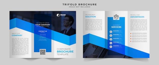 Zakelijke driebladige brochure ontwerpsjabloon