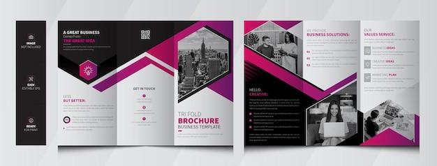 Zakelijke driebladige brochure premium sjabloon