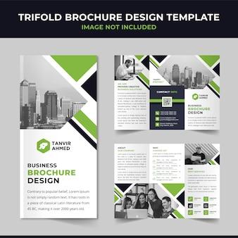 Zakelijke driebladige brochureontwerp