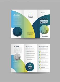Zakelijke driebladige brochures