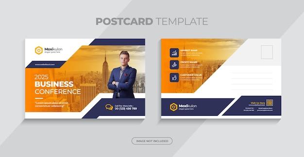 Zakelijke eddm briefkaart ontwerpsjabloon voor marketing of makelaardij