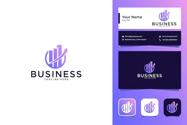 Zakelijke en financiële logo-ontwerp en visitekaartje