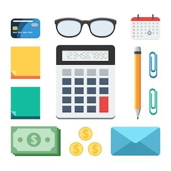 Zakelijke en financiële set
