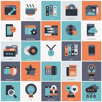 Zakelijke en technologie set illustratie