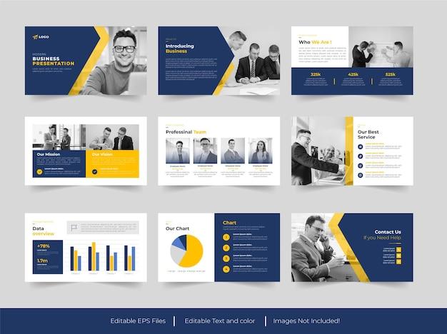 Zakelijke en zakelijke presentatie dia sjabloonontwerp