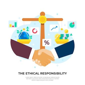 Zakelijke ethiek illustratie