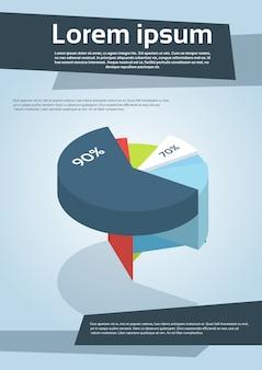 Zakelijke financiële cilinder grafiek diagram flyer