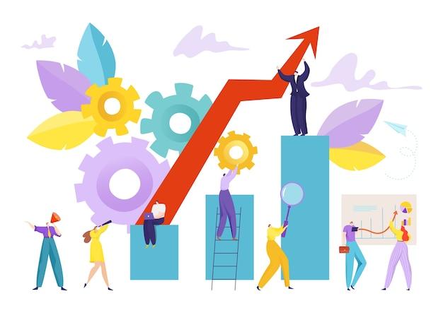 Zakelijke financiën groei grafiek