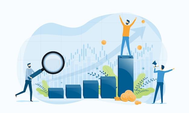 Zakelijke financiën investeringen werkconcept