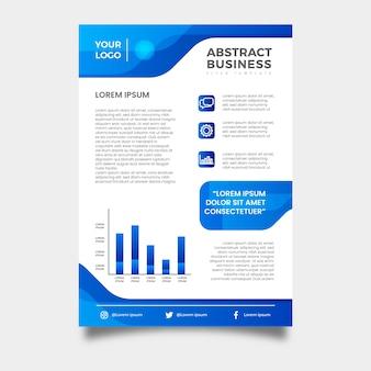 Zakelijke flyer abstracte professional