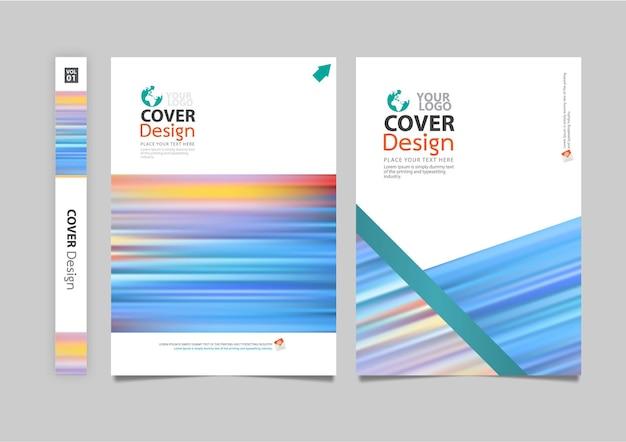 Zakelijke flyer boekje brochure dekking vector
