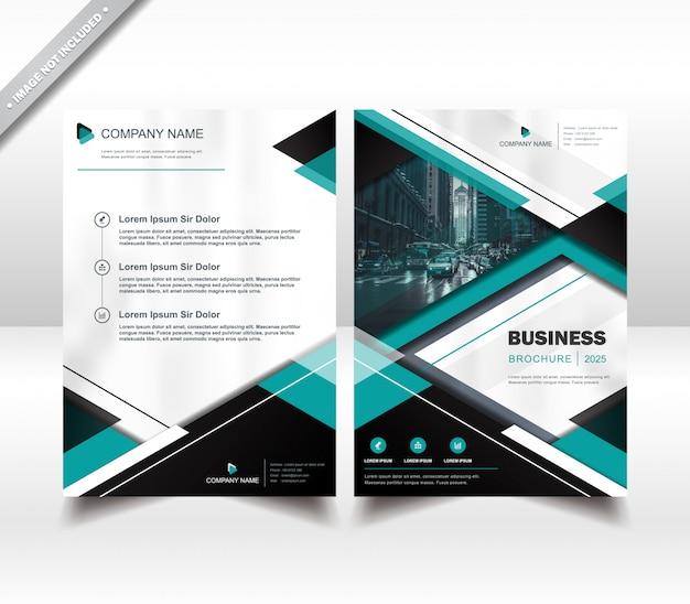 Zakelijke flyer brochure ontwerp