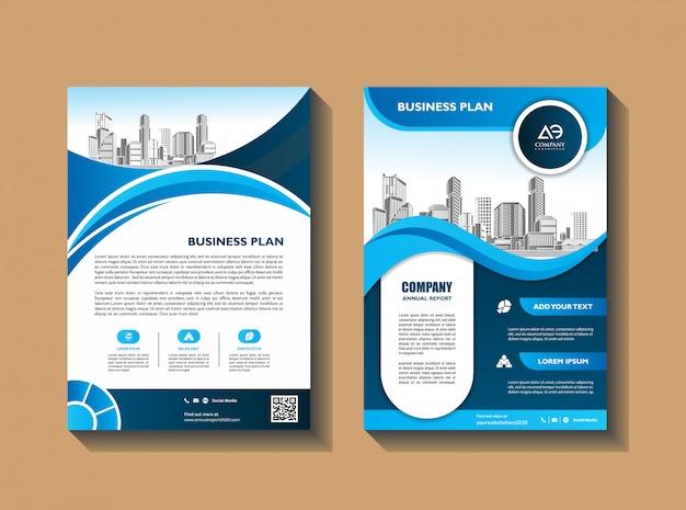Zakelijke flyer lay-out sjabloon met elementen en tijdelijke aanduiding voor foto