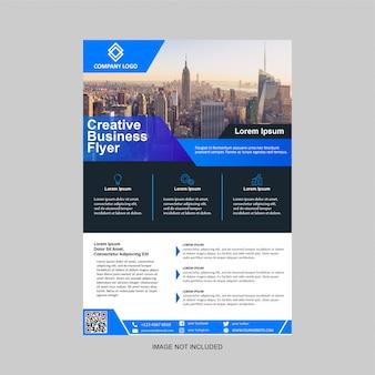 Zakelijke flyer moderne ontwerpsjabloon
