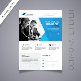 Zakelijke flyer ontwerp geïsoleerd op grijs