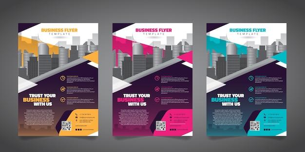 Zakelijke flyer ontwerp lay-out sjabloon