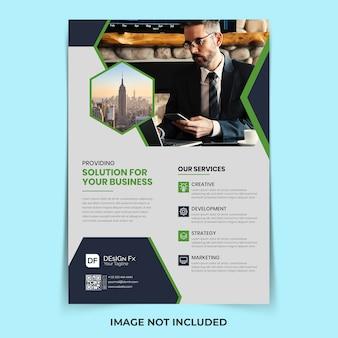 Zakelijke flyer ontwerpsjabloon