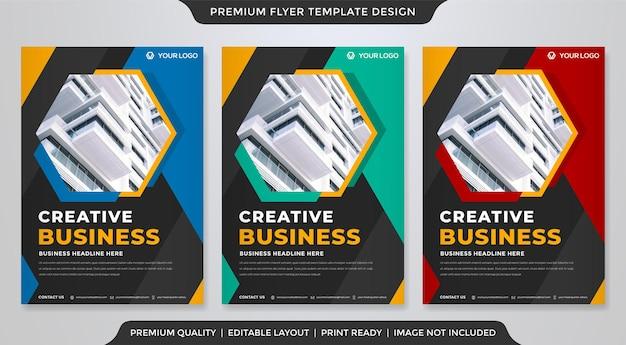 Zakelijke flyer sjabloon ontwerpstijl