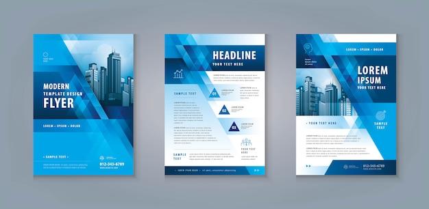 Zakelijke folder flyer sjabloon ontwerpset. corporate flyer-sjabloon a4-formaat