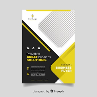 Zakelijke folder sjabloon met abstracte vormen