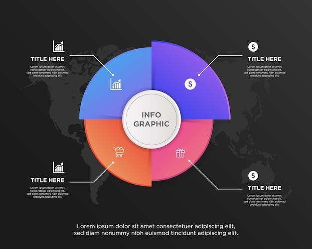 Zakelijke gegevens visualisatie grafiek element infographic ontwerp