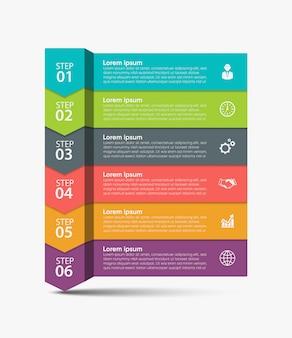 Zakelijke gegevens visualisatie tijdlijn infographic pictogrammen ontwerp