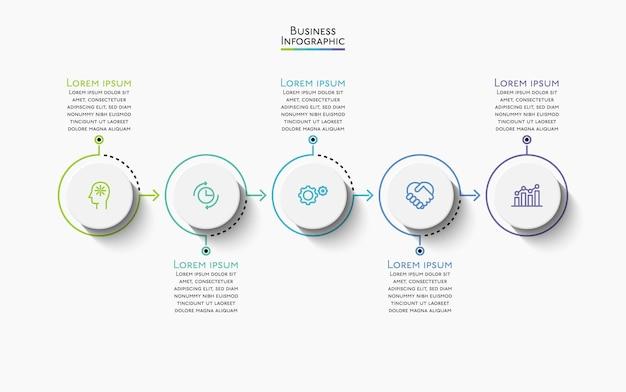 Zakelijke gegevensvisualisatie infographic achtergrondsjabloon