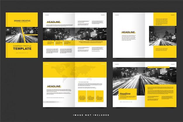 Zakelijke gele brochure