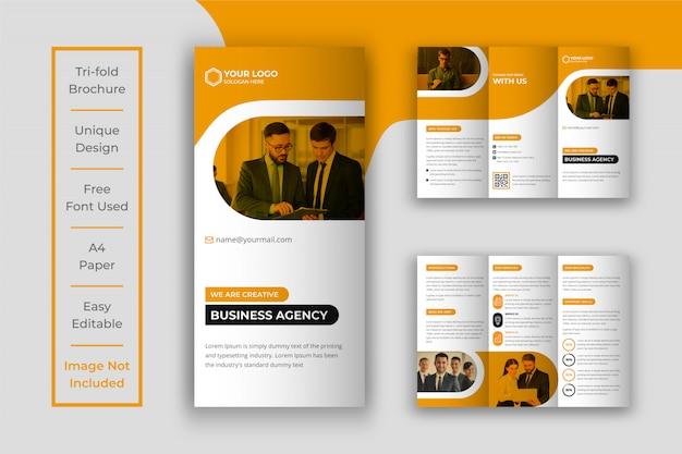 Zakelijke gevouwen brochure sjabloonontwerp