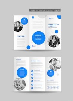 Zakelijke gevouwen brochureontwerp | drie gevouwen flyer | hand-out ontwerp | ontwerp van promotiemateriaal