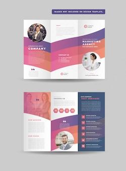 Zakelijke gevouwen brochureontwerp | drie gevouwen flyer | hand-out ontwerp