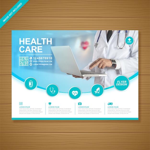 Zakelijke gezondheidszorg en medische folder
