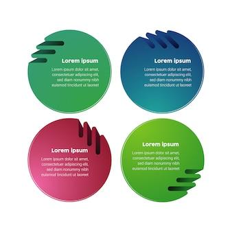 Zakelijke grafieken 3d-kleurrijke