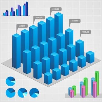 Zakelijke grafieken. abstracte websymbolen voor bedrijven en industrie