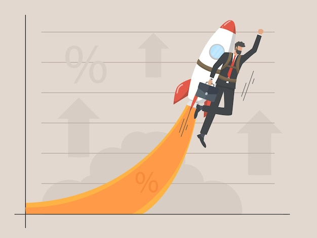 Zakelijke groeicurve concept