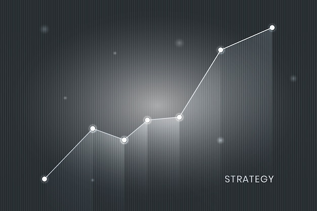 Zakelijke groeigrafiek
