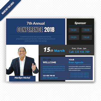 Zakelijke horizontale conferance flyer