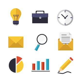 Zakelijke iconen ontwerp