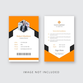 Zakelijke id-kaart ontwerp eps