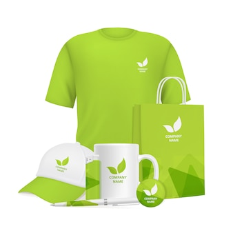Zakelijke identiteit. branding ontwerp corporate souvenirs promotionele artikelen kleding cup cap pen lichter