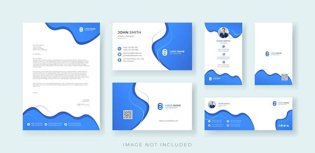 Zakelijke identiteit briefpapier set premium vector