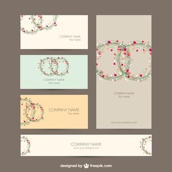 Zakelijke identiteit set floral design