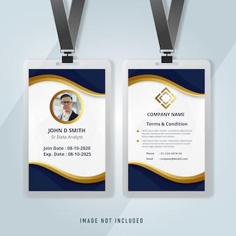 Zakelijke identiteitskaart bedrijfssjabloon