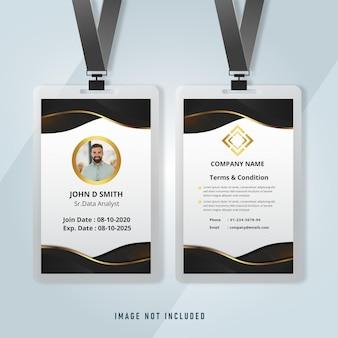 Zakelijke identiteitskaart voor zakelijke sjabloon voor werknemers
