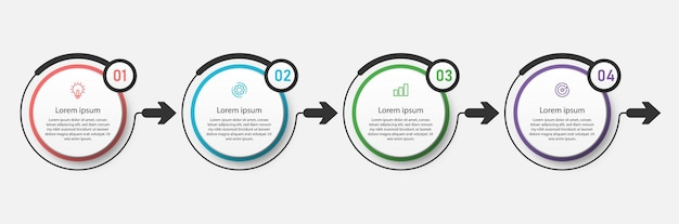 Zakelijke infographic cirkel