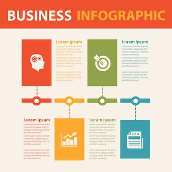 Zakelijke infographic concept.