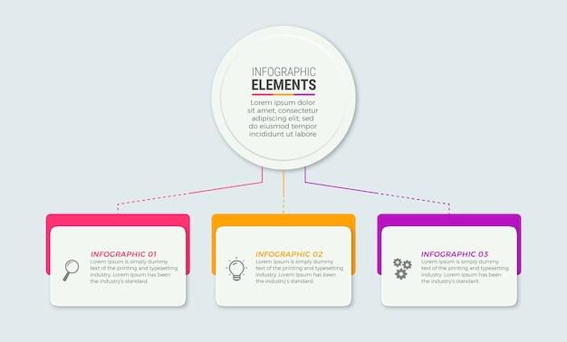 Zakelijke infographic elementen sjabloon
