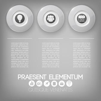 Zakelijke infographic-elementen
