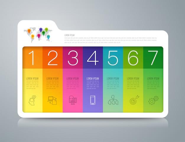 Zakelijke infographic elementen