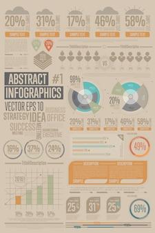 Zakelijke infographic elementenverzameling